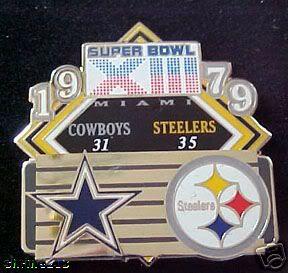 superbowl XIII pin   Super Bowl 13 Final Score Pin Steelers vs Cowboys PDI   eBay