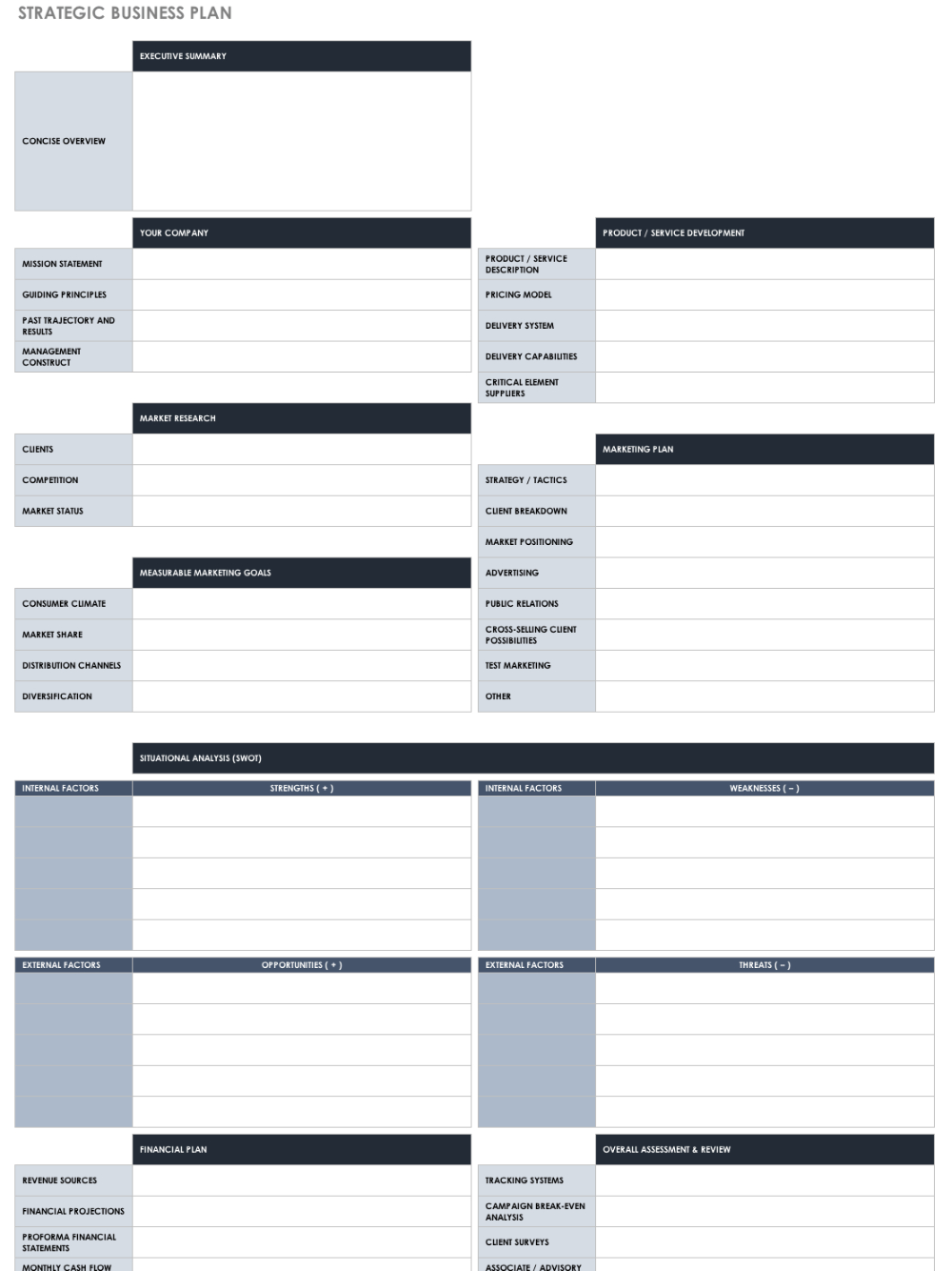 Free Strategic Planning Templates Smartsheet Pertaining To