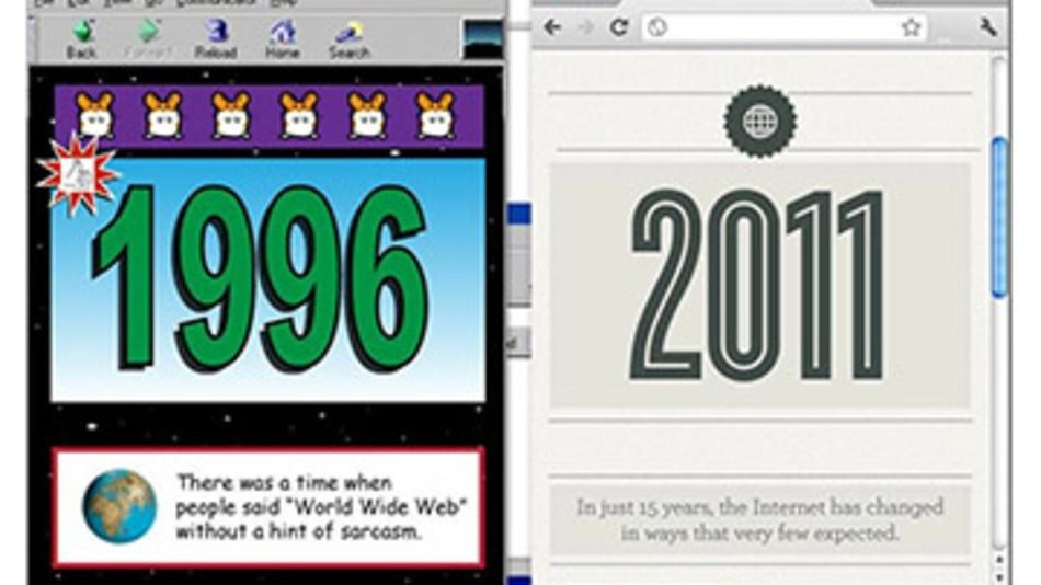 Internet of Yesterday and Today:  1996 vs 2011