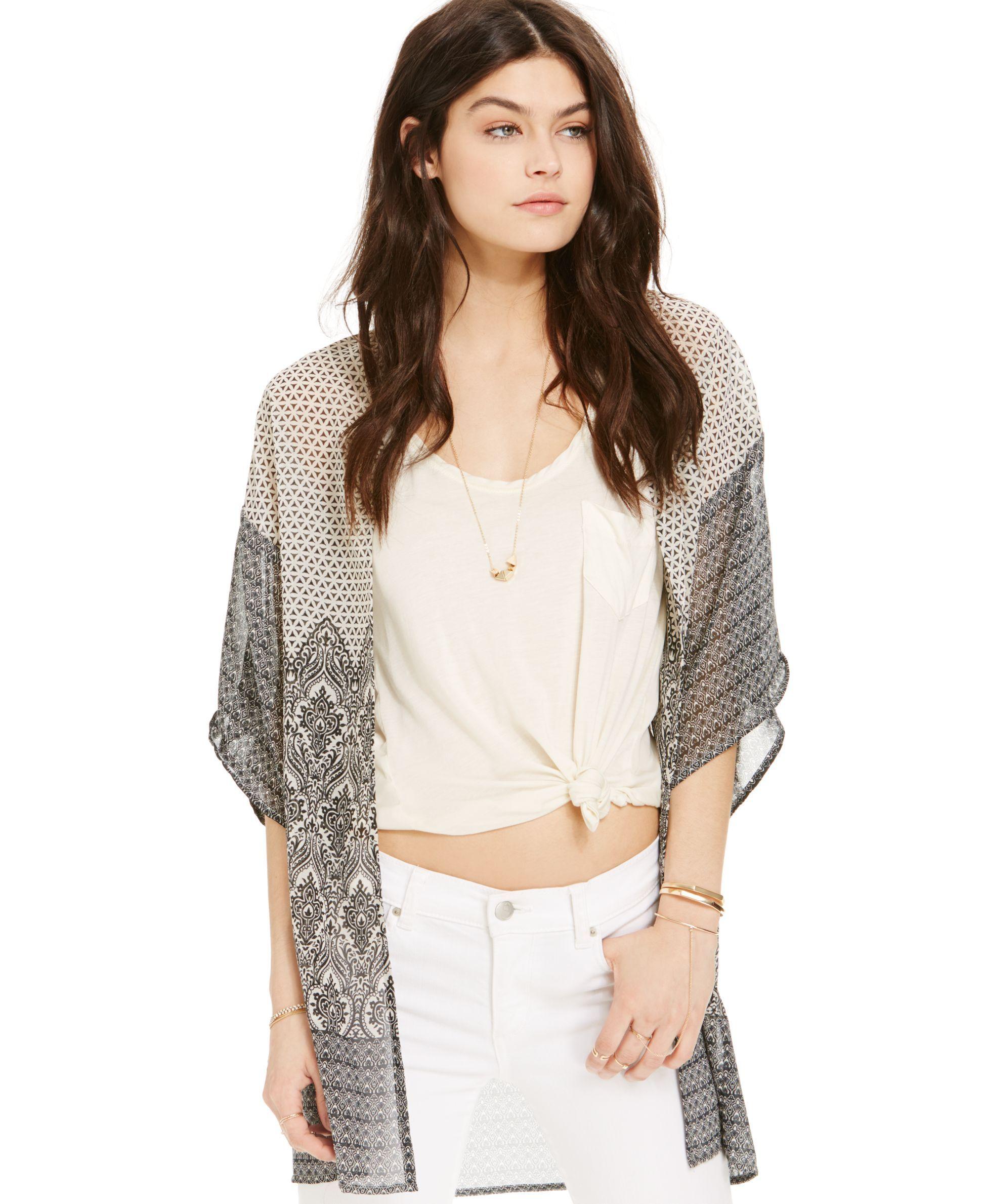 Angie Short-Sleeve Kimono Cardigan | Products | Pinterest | Shorts ...
