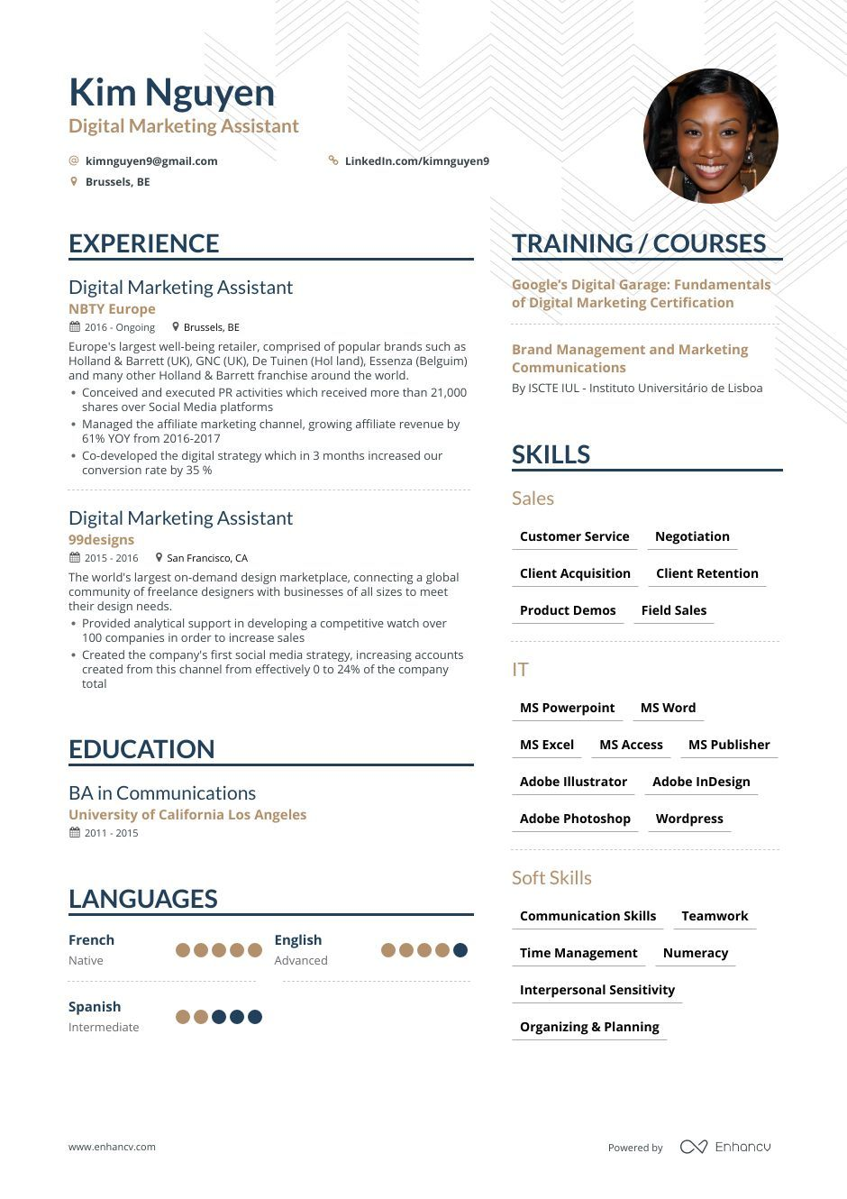 Marketing associate resume guide with examples