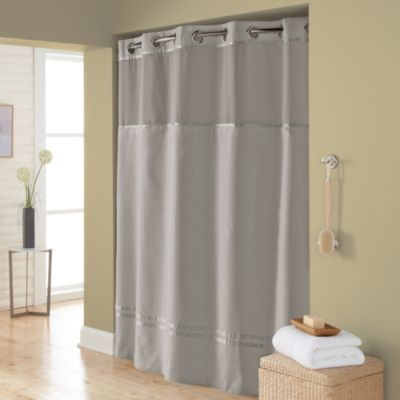 HooklessR Escape 71 Inch X 74 Fabric Shower Curtain And Liner Set In Grey