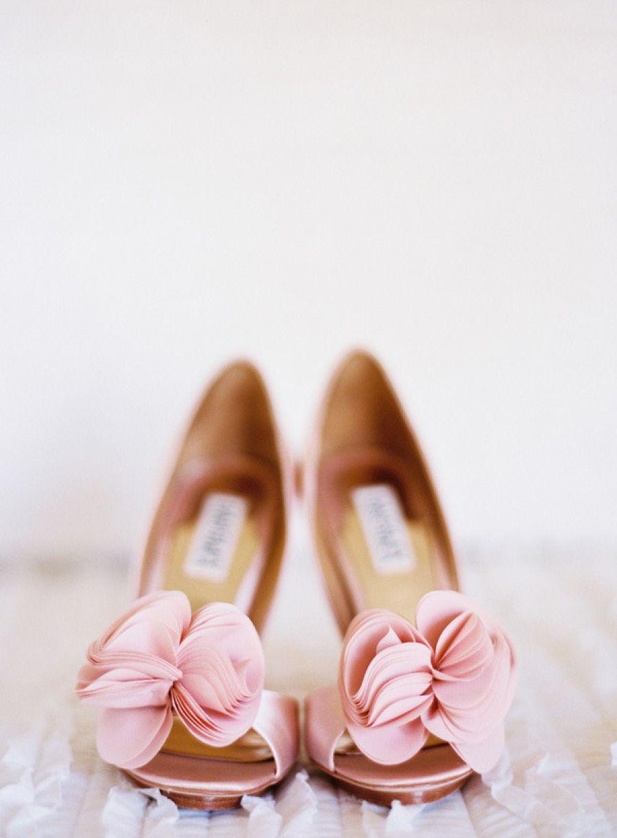 Sweetheart Light Pink Theme Wedding Shoes #wedding #pink #pastel #peony  #weddingphotography