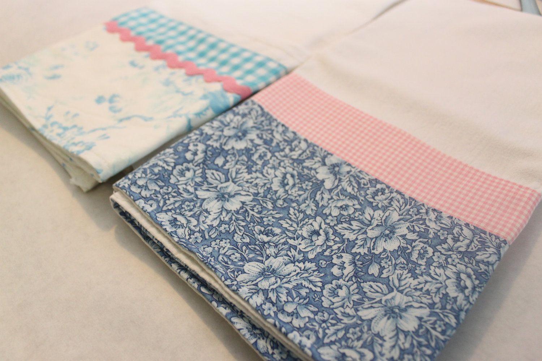 Delft Flour Sack Towel (tea, kitchen towel), set of 2, blue and pink ...