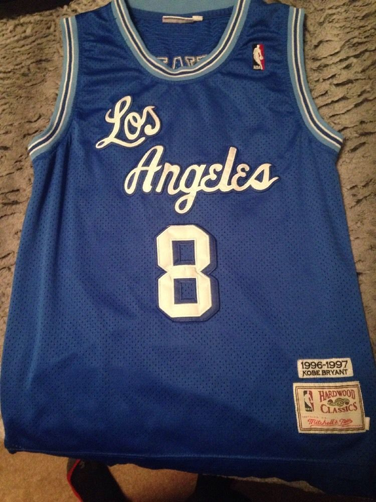 Kobe Bryant Blue Los Angeles Lakers Jersey Stiched Mitchell And Ness Large  from  60.0 55fdebff7