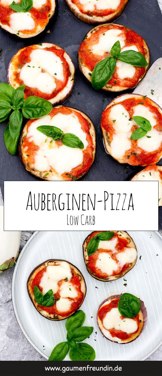 Low Carb Auberginen-Pizza - ein einfaches Low Carb Grundrezept