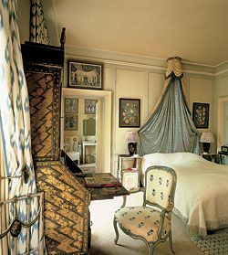 English Country Bedroom highlights: nancy lancaster -- english country house style | for