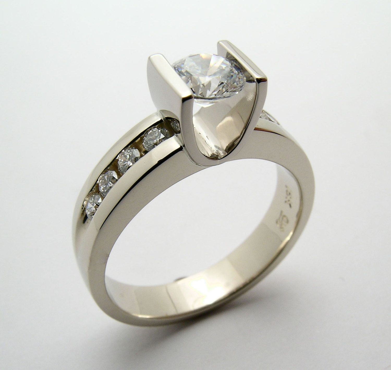2/3 carat Canadian Diamond Channel Set in 18k White Gold