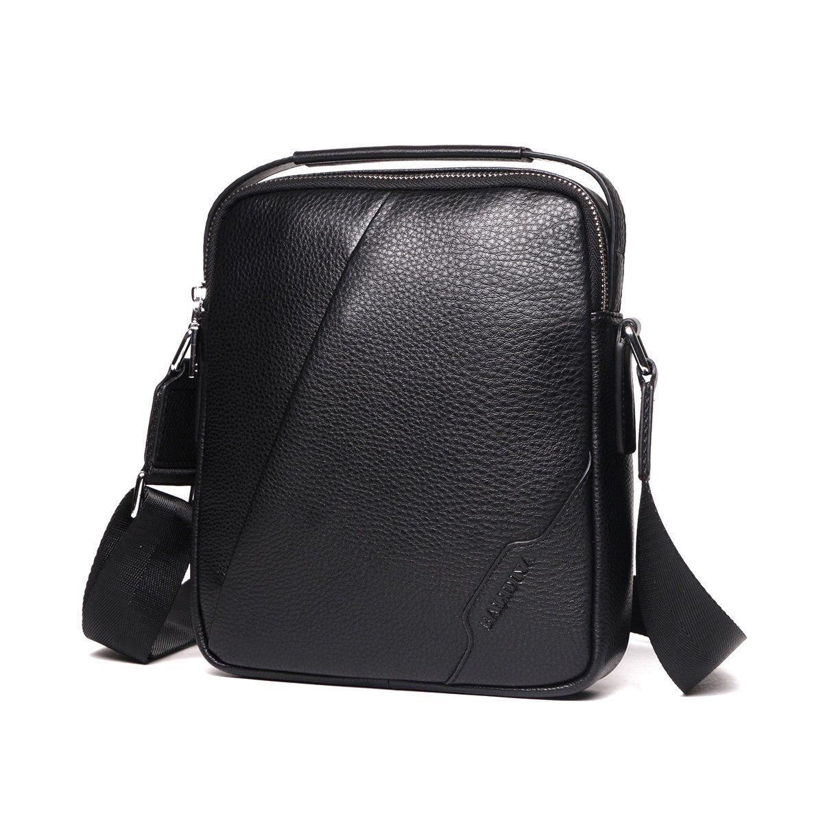 Zicac Sac Homme Bandouliere Cuir Noir Petite Sacoche Pochette Besace Vintage Sac A Main Sac A Epaule Leger Casual Pour Travail Vo Sac Bandouliere Sac Homme Sac