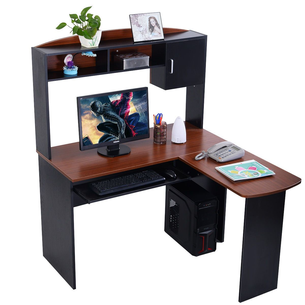 Furinno exbk simplistic end table espressoblack set of