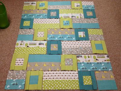 Fun Bluebird Park Layout In This WIP Baby Quilt By Jessica Schunke Unique Easy Baby Quilt Patterns