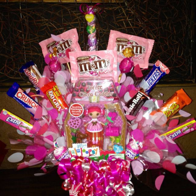 valentine candy bouquet i made for my daughter - Valentine Gift For Daughter