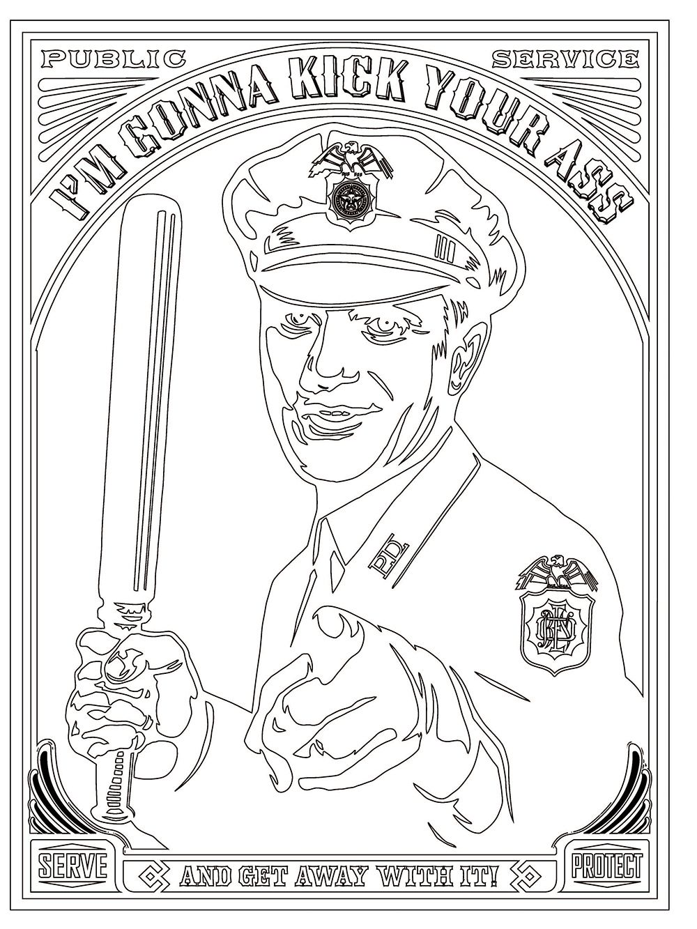 The Police Brutality Coloring-Book | Coloring books