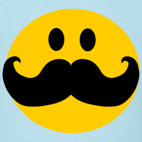 mustache pictures funny mustache smiley face cartoon inspirationz store on spreadshirt