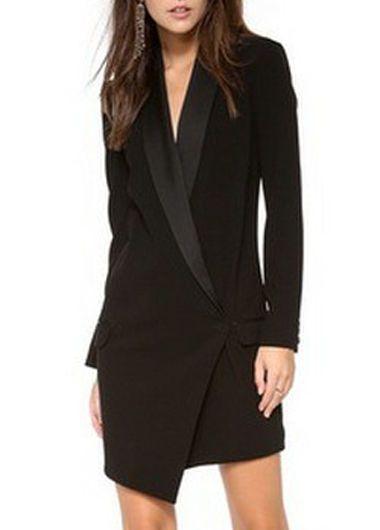 divers styles les dernières nouveautés nouveau design Mini robe à manches longues | LONG BLAZER | Idées ...