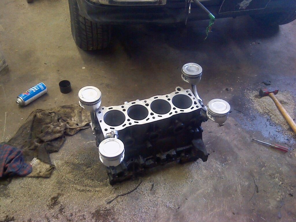 Coffe table in the making, toyota 22re engine block   me and