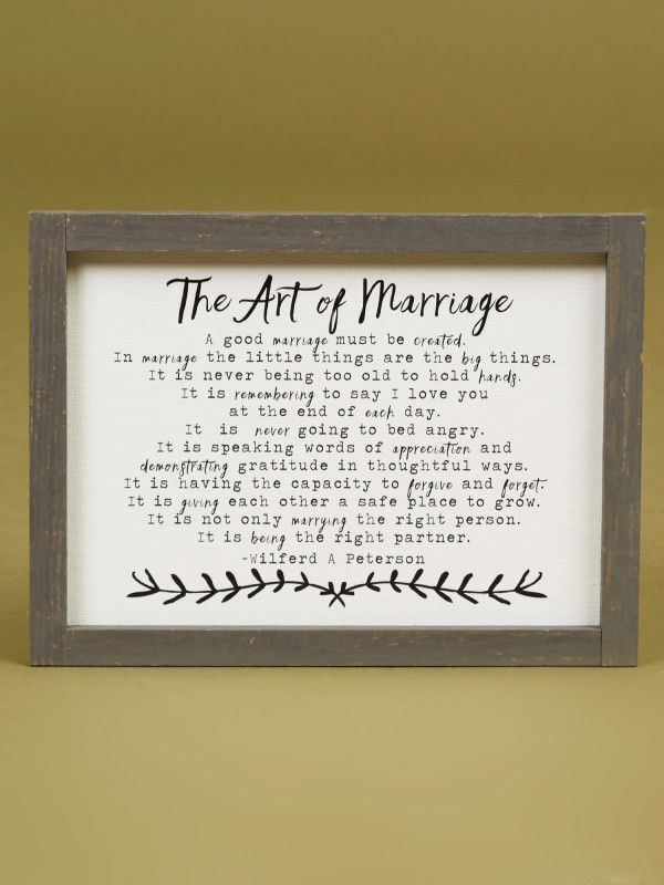 The Art Of Marriage Mini Wall Art - Signs & Wall Art - Gifts/Home Decor