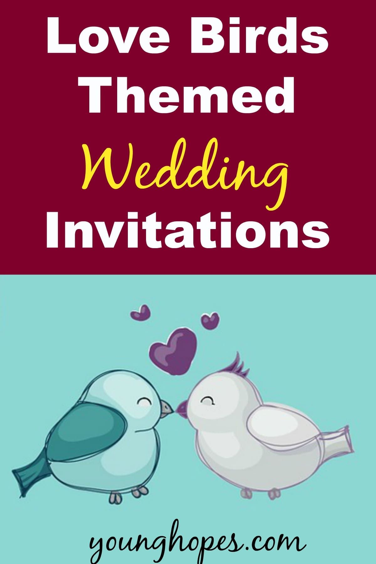 Unique Love Birds Themed Wedding Invitations • | Themed weddings and ...