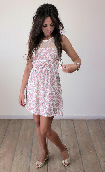 Süßes Kleid im Vintage Stil aus weichem Baumwollstretchstoff mit ...
