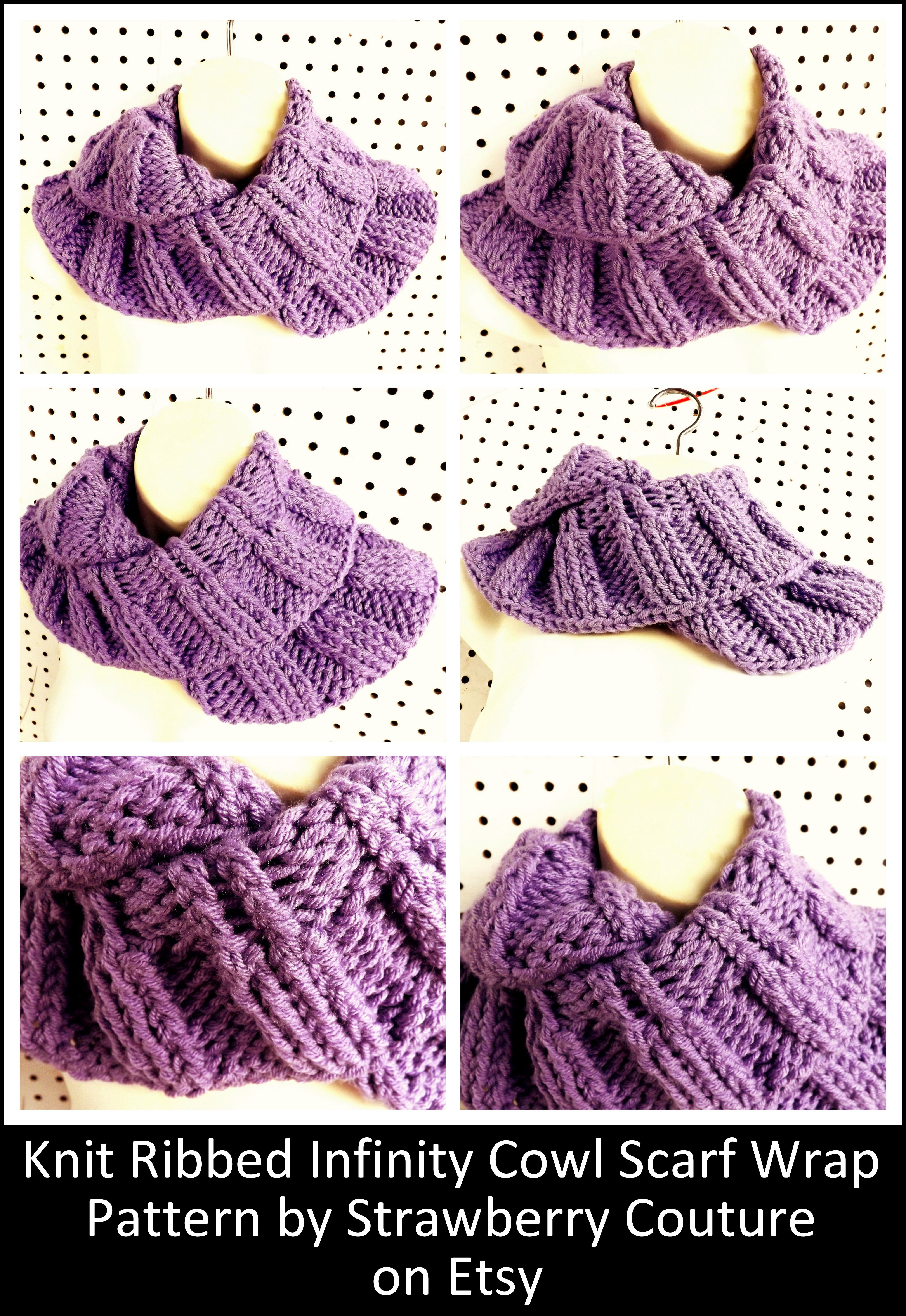 Knitted Infinity Cowl Pattern Image collections - handicraft ideas ...