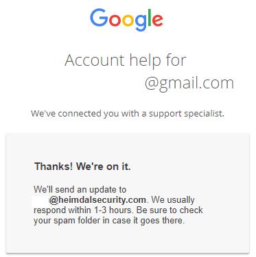 google verify account