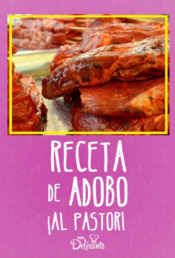 Receta De Adobo Al Pastor Perfecta Para Hacer Tacos Caseros Receta De Tacos Adobo Para Carne Tacos De Pastor Receta