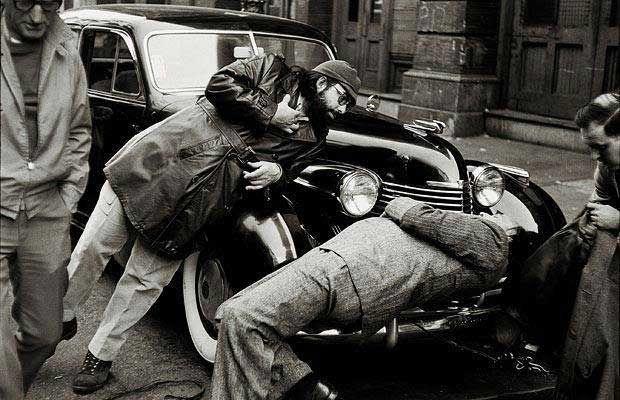 Francis Ford Coppola directing Marlon Brando's assassination scene in The Godfather.