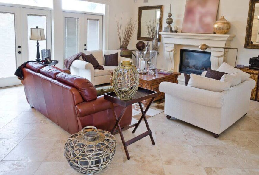 72 Living Rooms With White Furniture Sofas And Chairs Living Room Tiles Brown Living Room Formal Living Room Designs