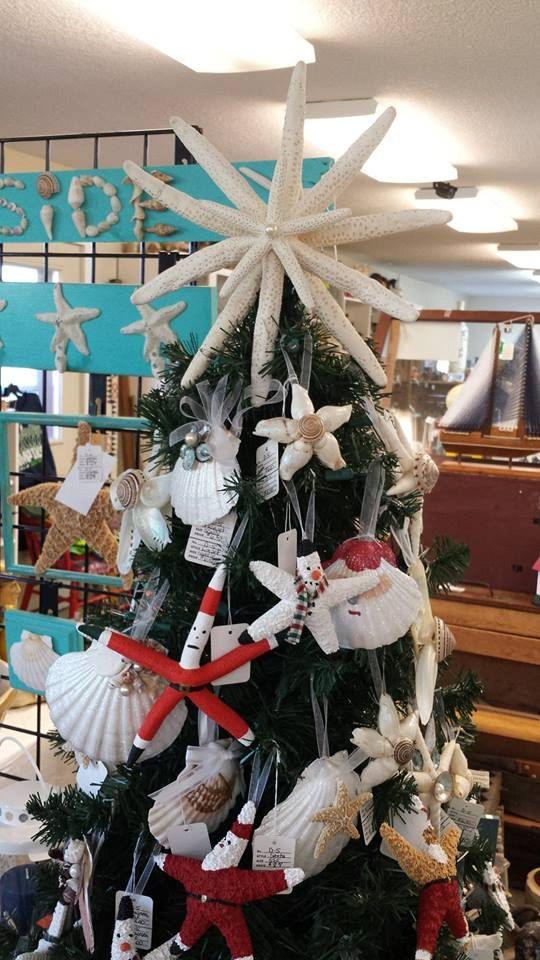 Beach Starfish Tree Topper With 4 Starfish Nautical White Starfish