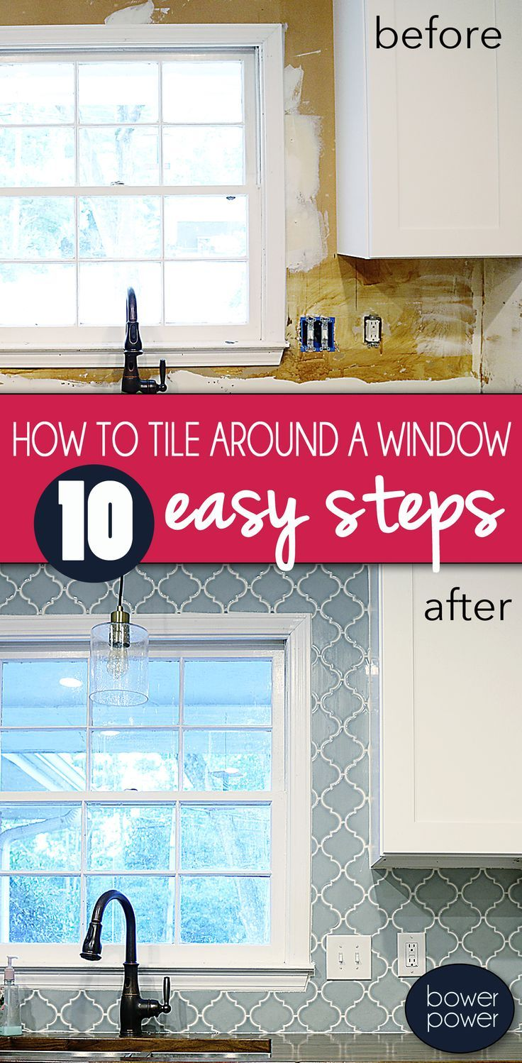 Tile around a window how to and picking tile for the Pedrazas ...