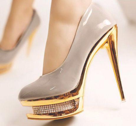 1000  images about Glitter High Heels on Pinterest | Platform high ...