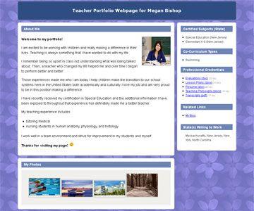 Portfoliogen Create Your Teacher Portfolio Website In Minutes Teacher Portfolio Professional Development For Teachers Teaching Portfolio
