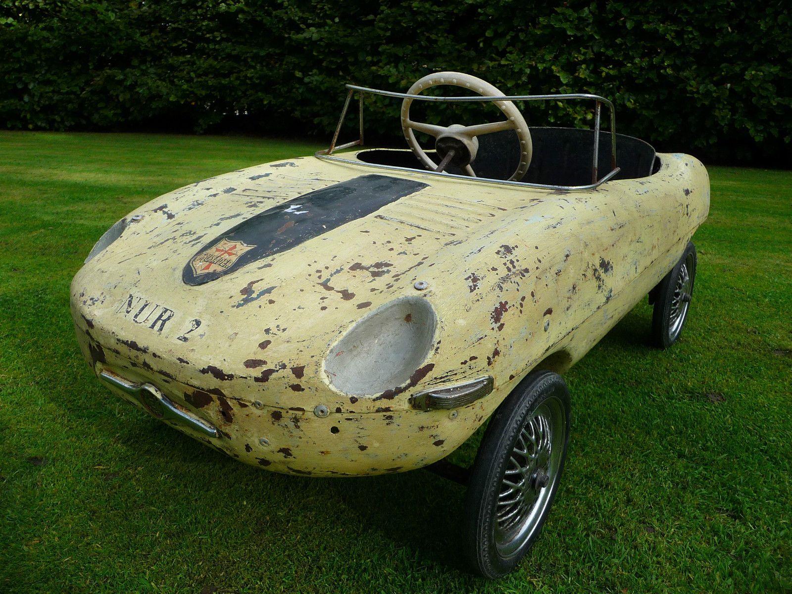 Rare 1960s Tri Ang E Type Jaguar Pedal Car Barn Find Ebay