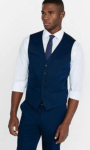 1df5cfd63 cotton sateen navy blue vest | Wedding! | Navy blue vest, Navy vest ...