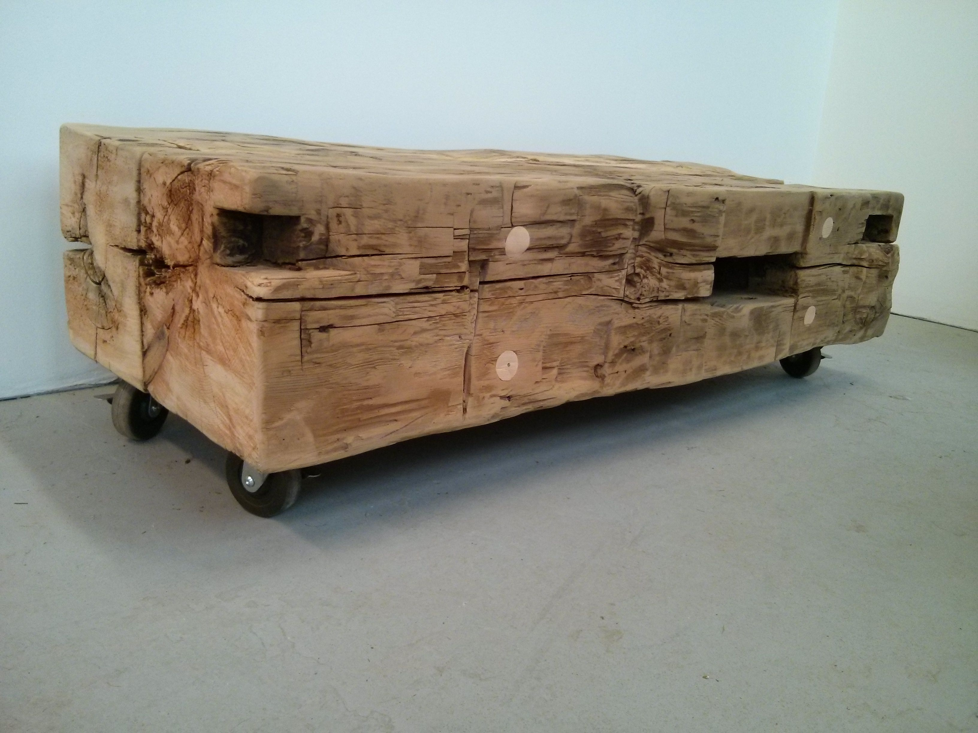 Reclaimed Barn Beam Coffee Table Bench by barnboardstore Two