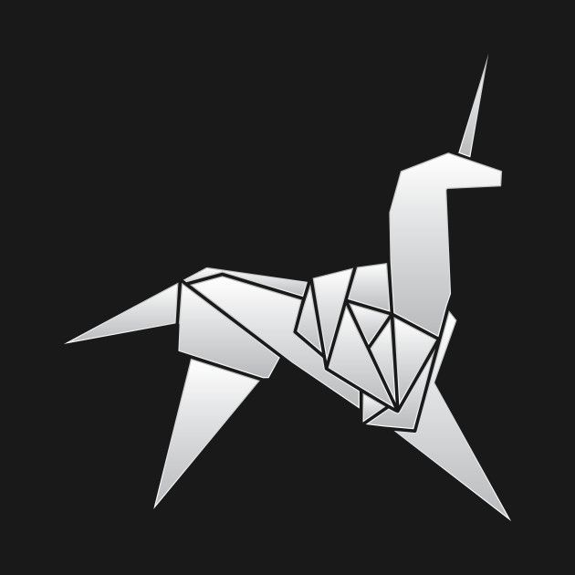 Photo of Check out this awesome 'Blade+Runner+%2F+Origami+Unicorn' design on @TeePublic!