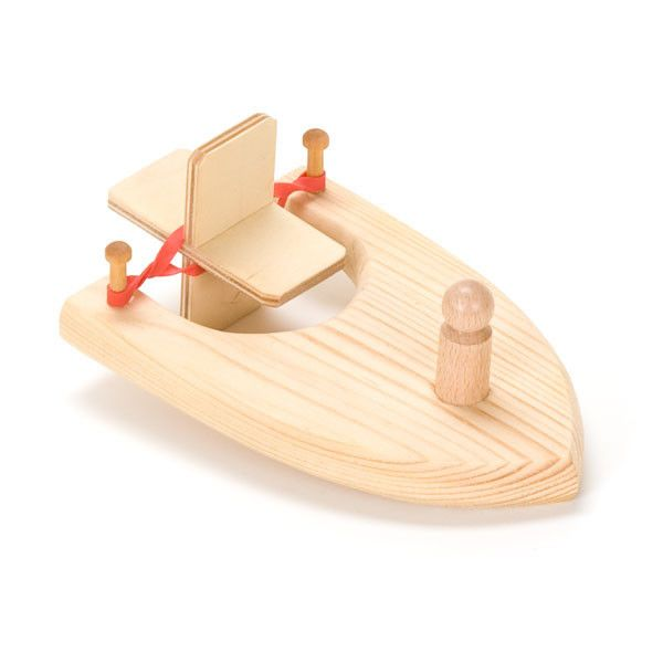 Rubber Band Power Wooden Paddle Boat Toy Girls Boys Christmas Gift Bath Toy Z