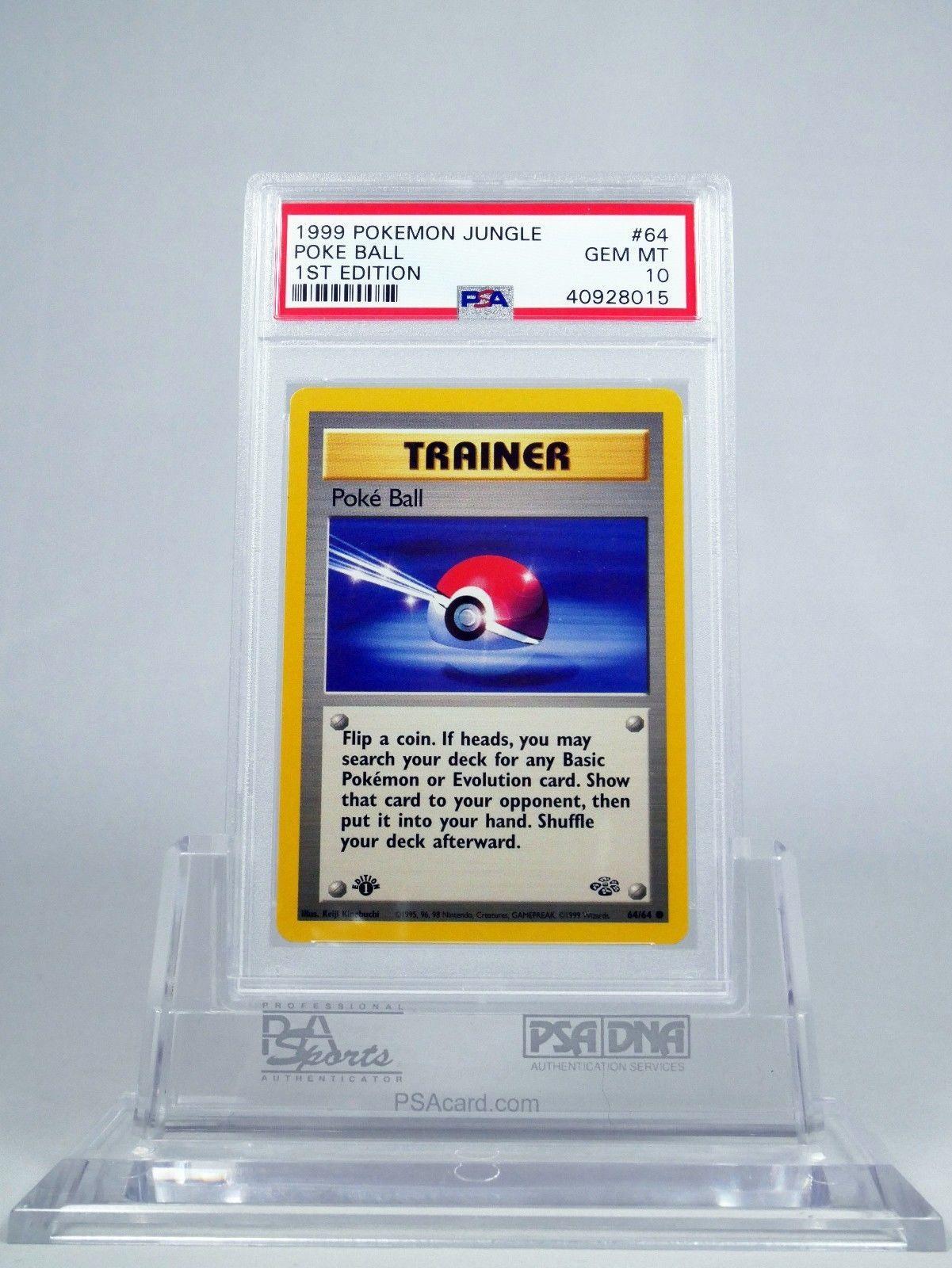 64//64 2x Poke Ball Common 1st Edition Near Mint Jungle Pokemon