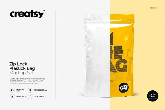 Download Zip Lock Plastic Bag Mockup Set Bag Mockup Mockup Branding Mockups