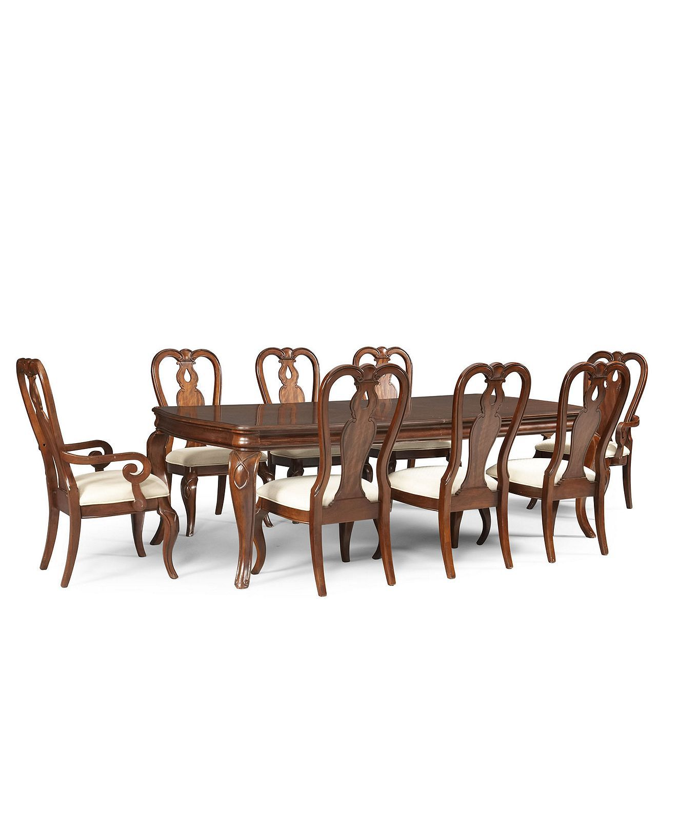 Bordeaux Louis Philippe Style 9 Piece Dining Set Rectangular Table 6 Side Dining Room Furniture Sets Dining Room Furniture Dining Room Furniture Collections