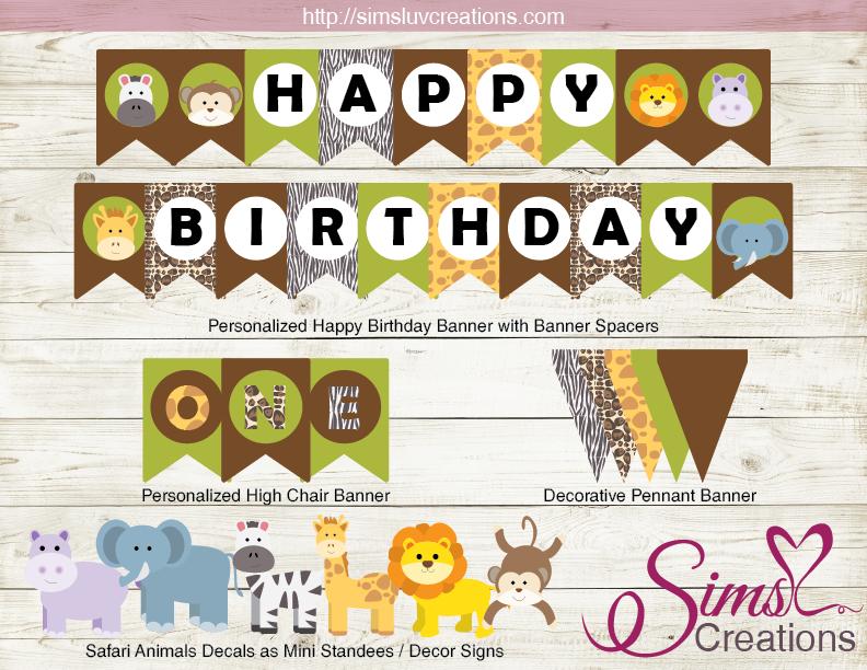 Safari Animals Party Printable Kit Jungle Party Printables