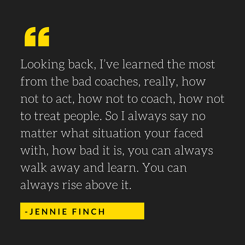Bad coaches are one of the reasons that young athletes