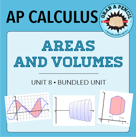 AP Calculus: Areas and Volumes Unit Bundle | My TPT Store | Ap