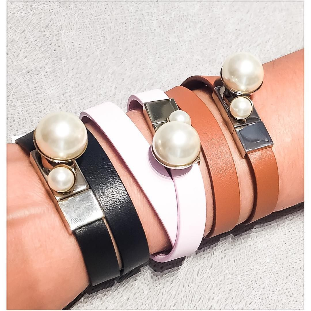 Dior Leather Pearl Bracelets Loving The Baby Pink One Diorvalley Diorpearl