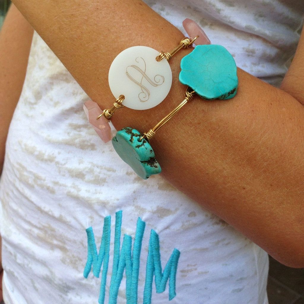 Acrylic Personalized Wire Wrapped Stone Bangles | Wire wrapped ...