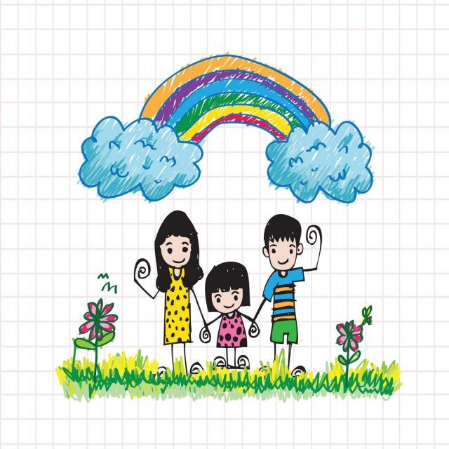 Kids Draw Happy Family Family Icons Kids Icons Happy Icons Png And Vector With Transparent Background For Free Download Drawing For Kids Free Vector Illustration Kids Icon