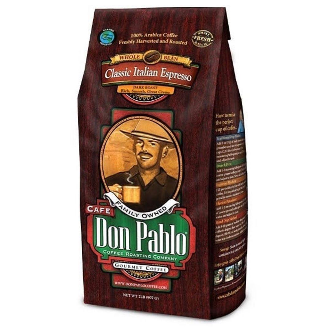 Don Pablo Classic Italian Espresso Roast Level : Dark RoastSize amp; Price: Out of stock 2Lb/ 14.500 BD1LB / 7.700 BD1/2Lb 4.100 BD#summer