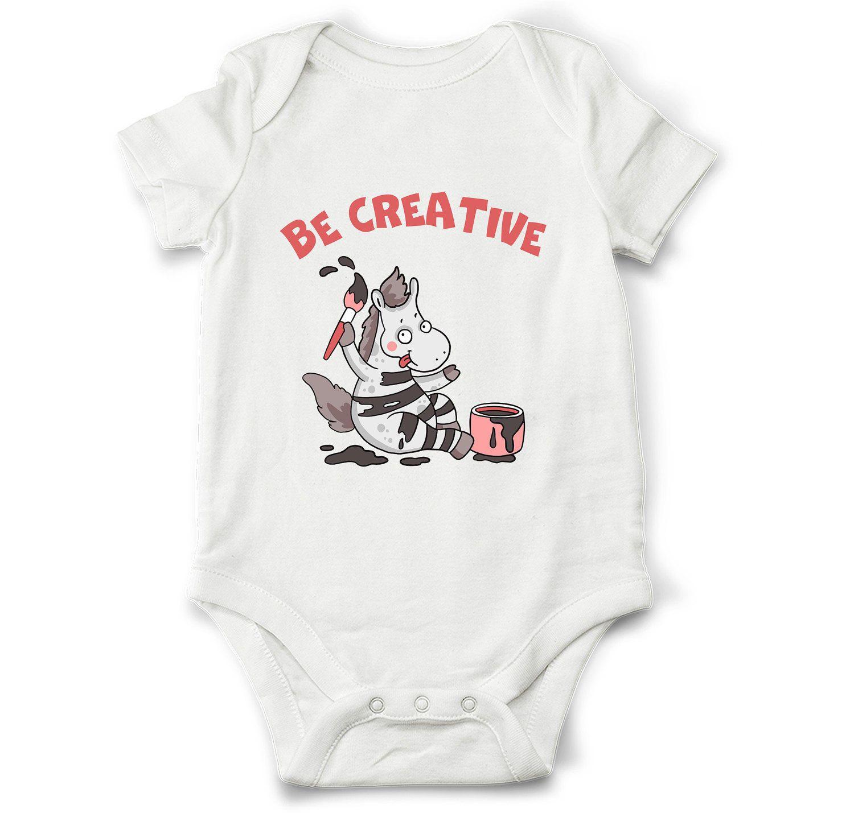 Be creative baby onesie for boy & girl Horse artist baby shirt