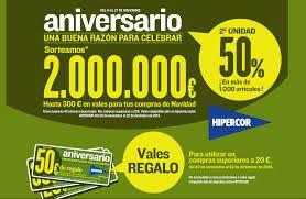 Promociones de aniversario, del distribuidor dirigidas al consumidor.