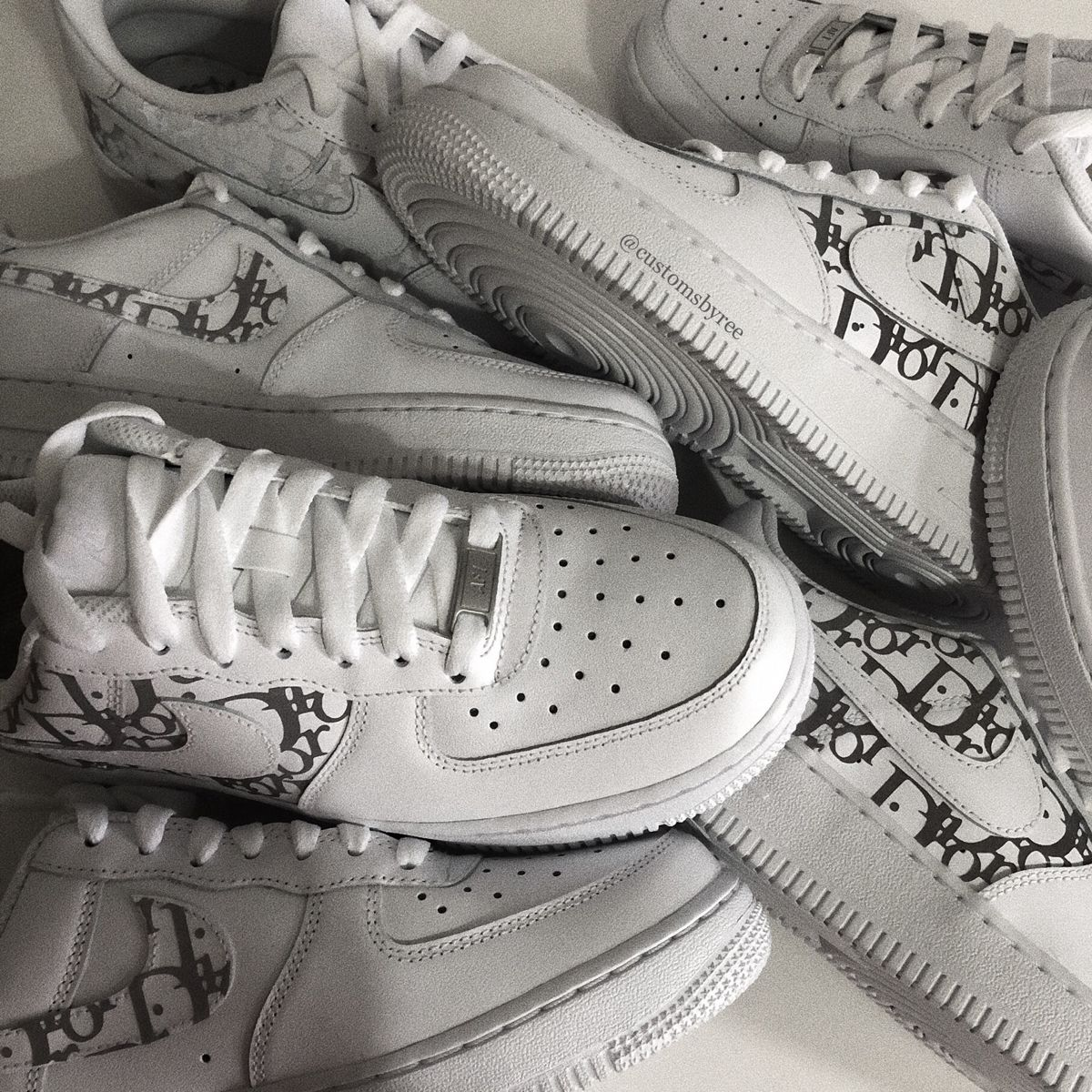 Air Force 1 X Dior with reflective laces THE CUSTOM